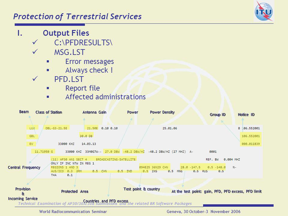 Protection of Terrestrial Services