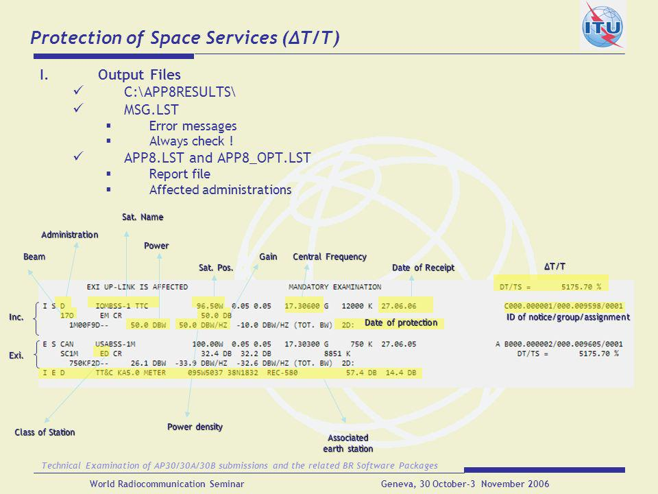 Protection of Space Services (ΔT/T)