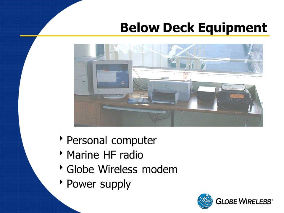 Below Deck Equipment Personal computer Marine HF radio