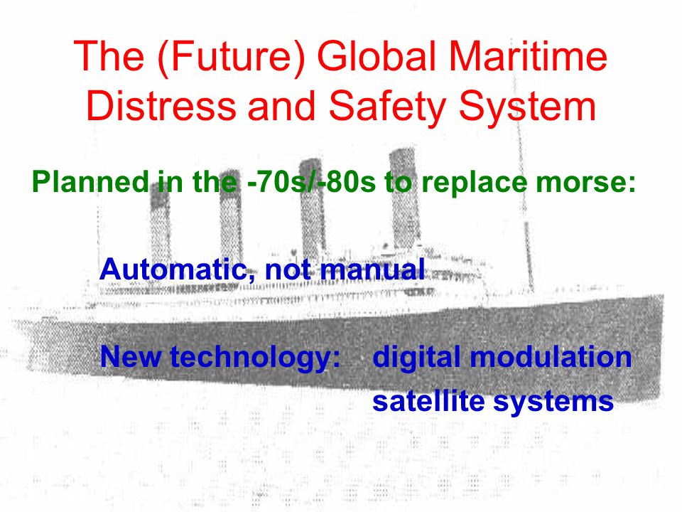 The (Future) Global Maritime Distress and Safety System