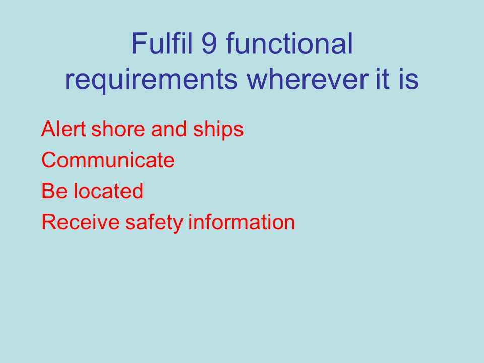 Fulfil 9 functional requirements wherever it is