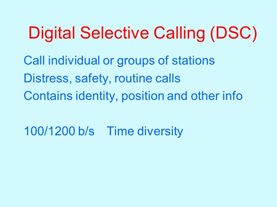 Digital Selective Calling (DSC)