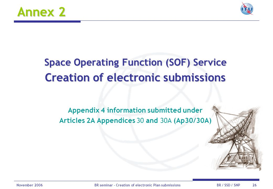 Annex 2 Creation of electronic submissions