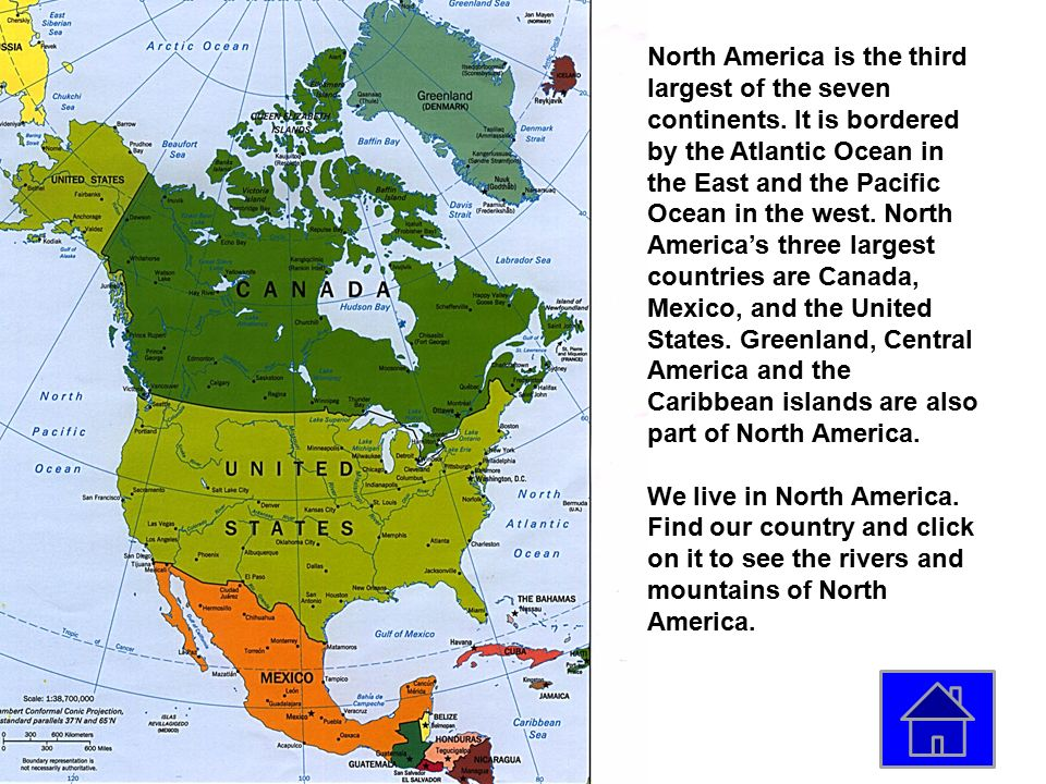 Continent Map Click On A Continent To Learn More About It Ppt - United states map with oceans