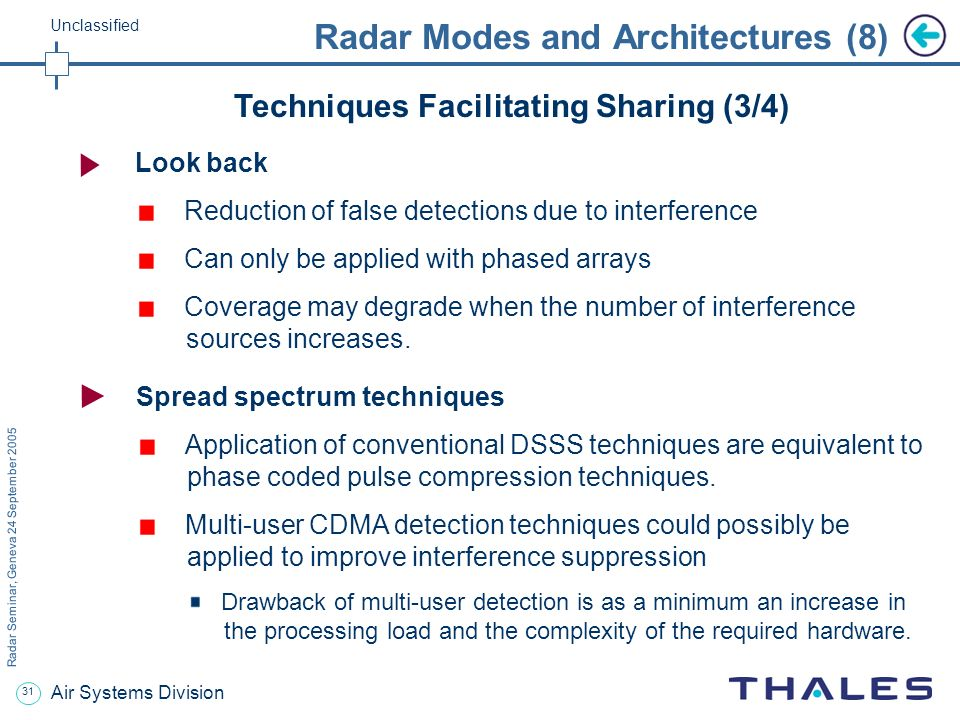 Radar Modes and Architectures (8)