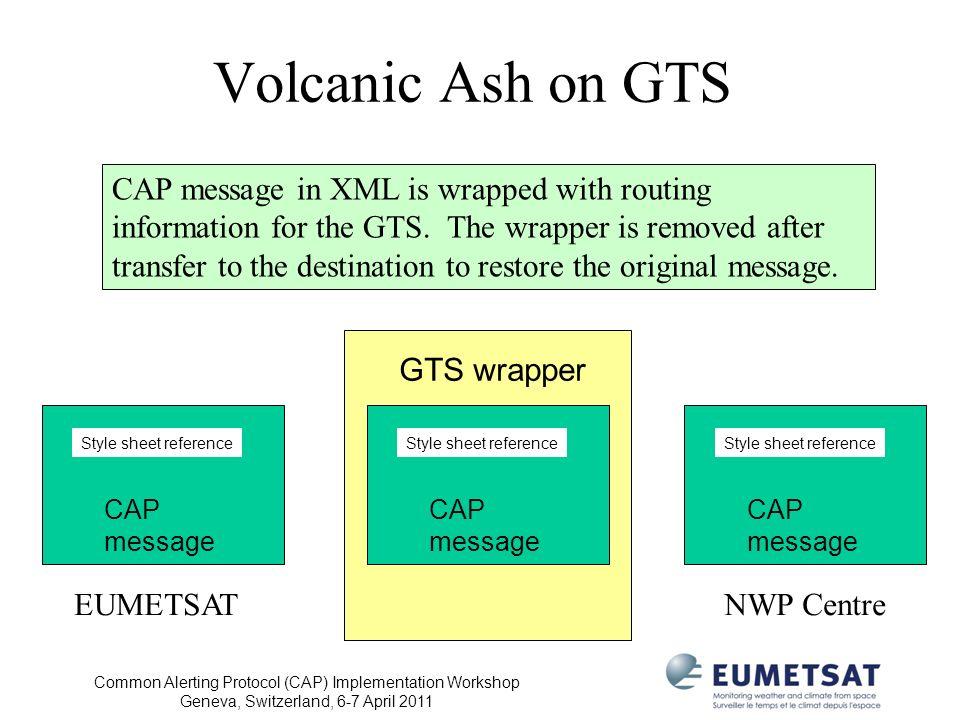 Volcanic Ash on GTS