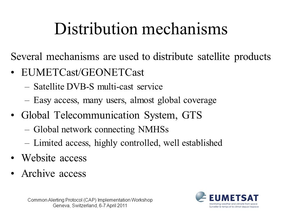 Distribution mechanisms