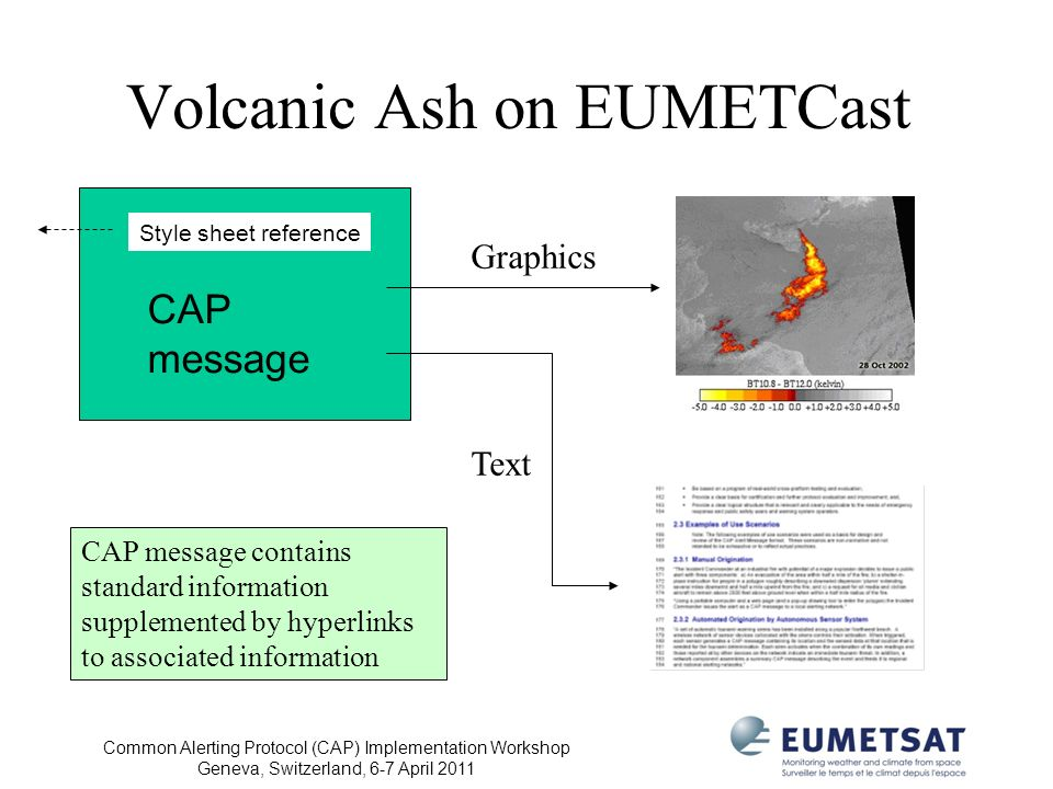 Volcanic Ash on EUMETCast
