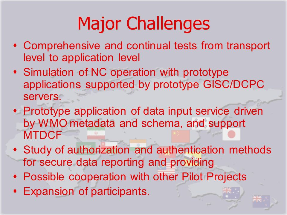 Major Challenges Comprehensive and continual tests from transport level to application level.