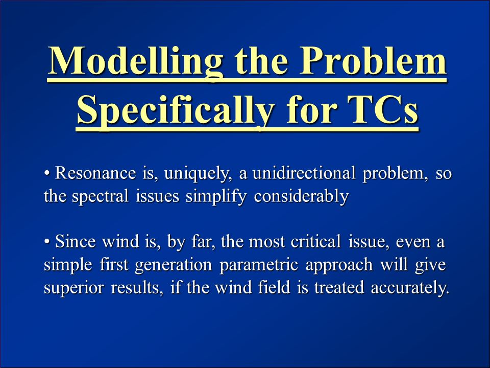 Modelling the Problem Specifically for TCs