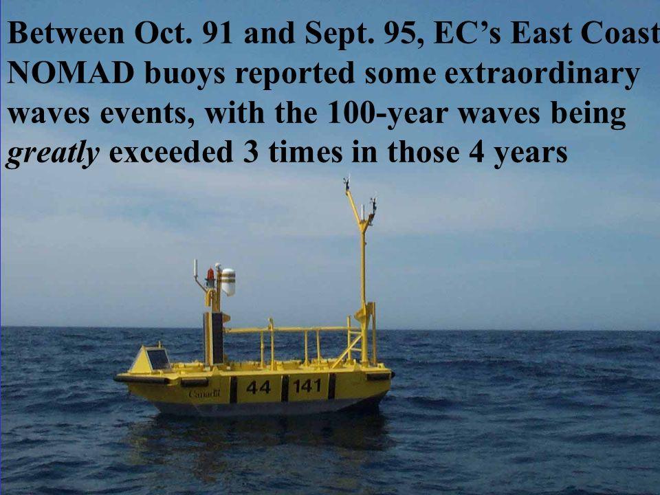 Between Oct. 91 and Sept. 95, EC's East Coast