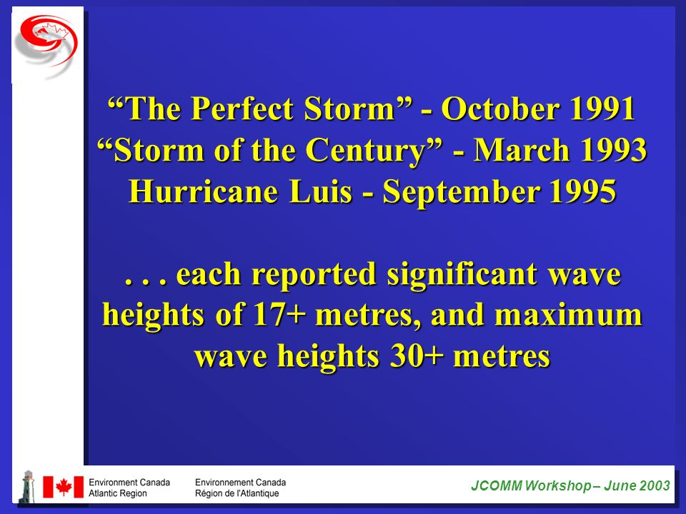 The Perfect Storm - October 1991 Storm of the Century - March 1993