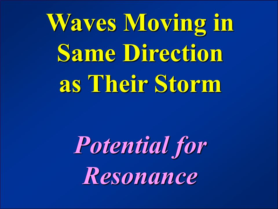 Waves Moving in Same Direction as Their Storm Potential for Resonance
