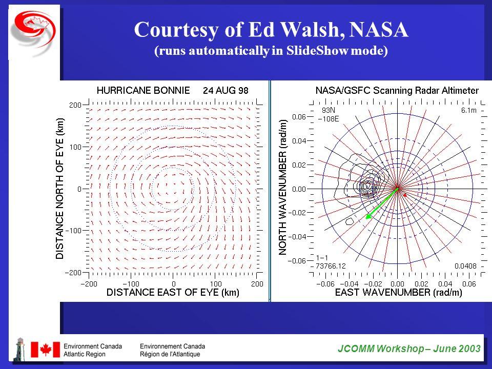 Courtesy of Ed Walsh, NASA (runs automatically in SlideShow mode)