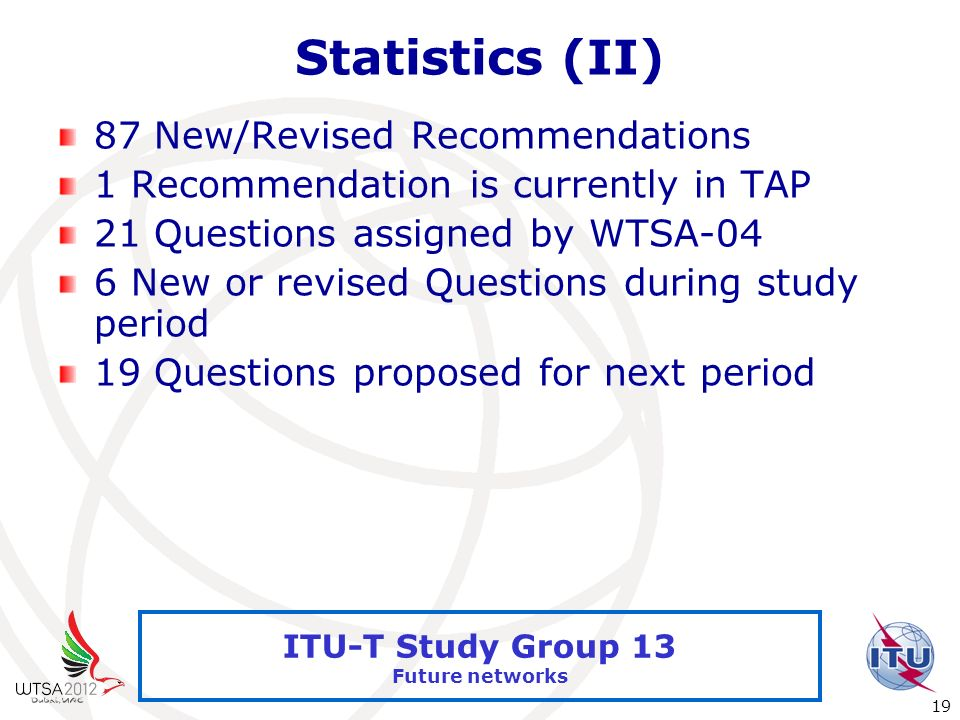Statistics (II) 87 New/Revised Recommendations