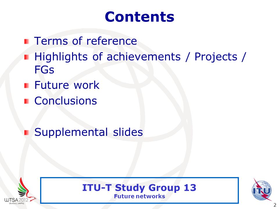 Contents Terms of reference