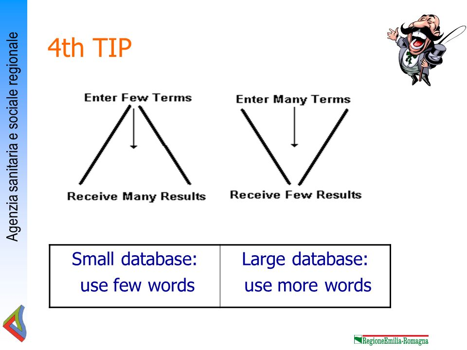 4th TIP Small database: use few words Large database: use more words