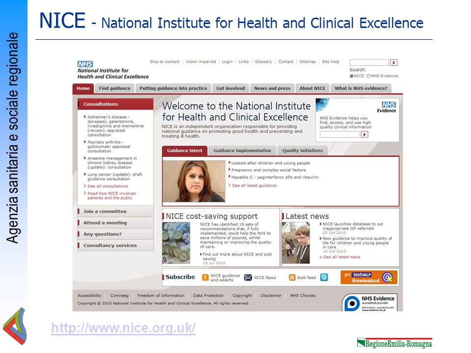NICE - National Institute for Health and Clinical Excellence