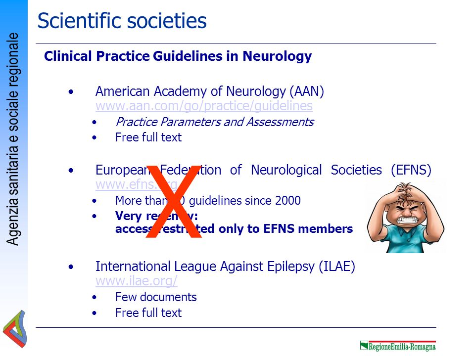 X Scientific societies Clinical Practice Guidelines in Neurology