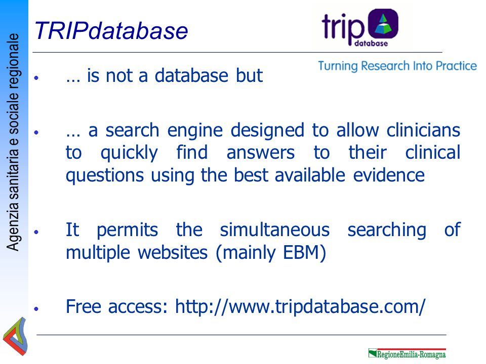 TRIPdatabase … is not a database but