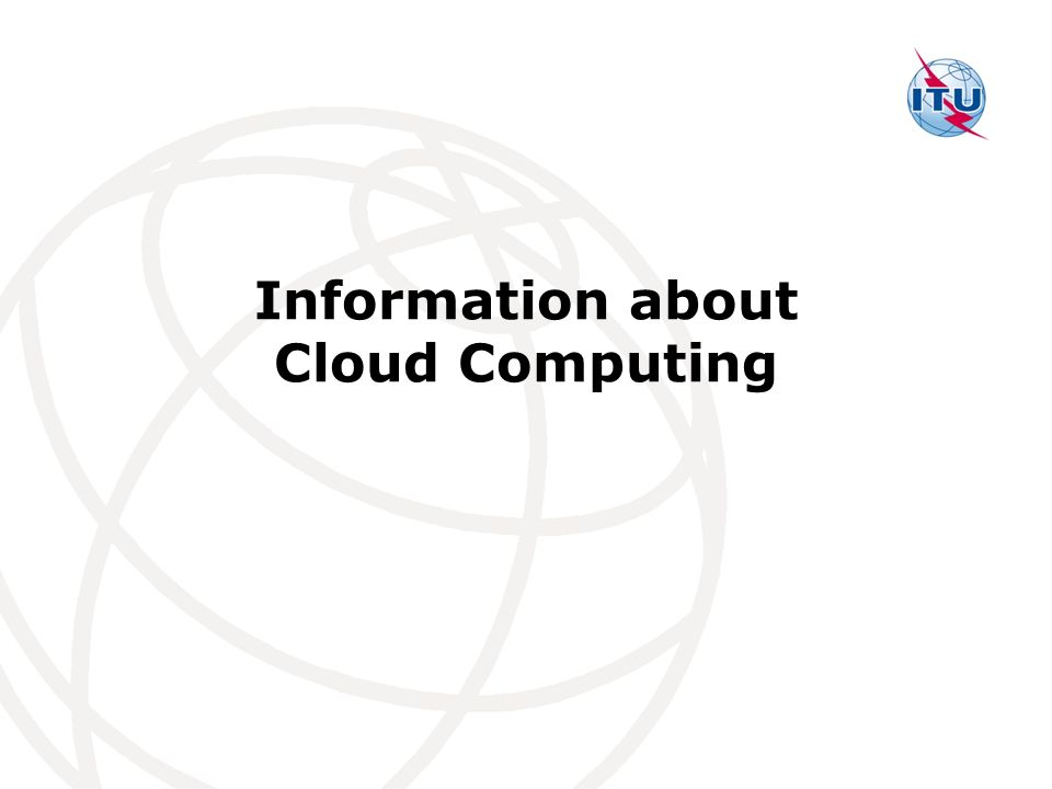 Information about Cloud Computing