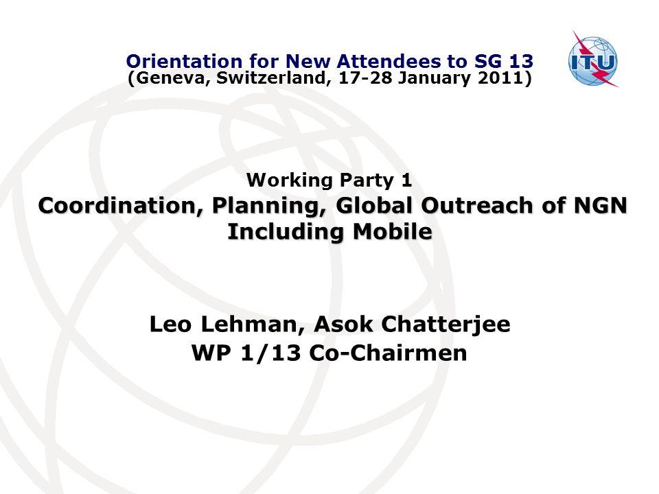 Leo Lehman, Asok Chatterjee WP 1/13 Co-Chairmen