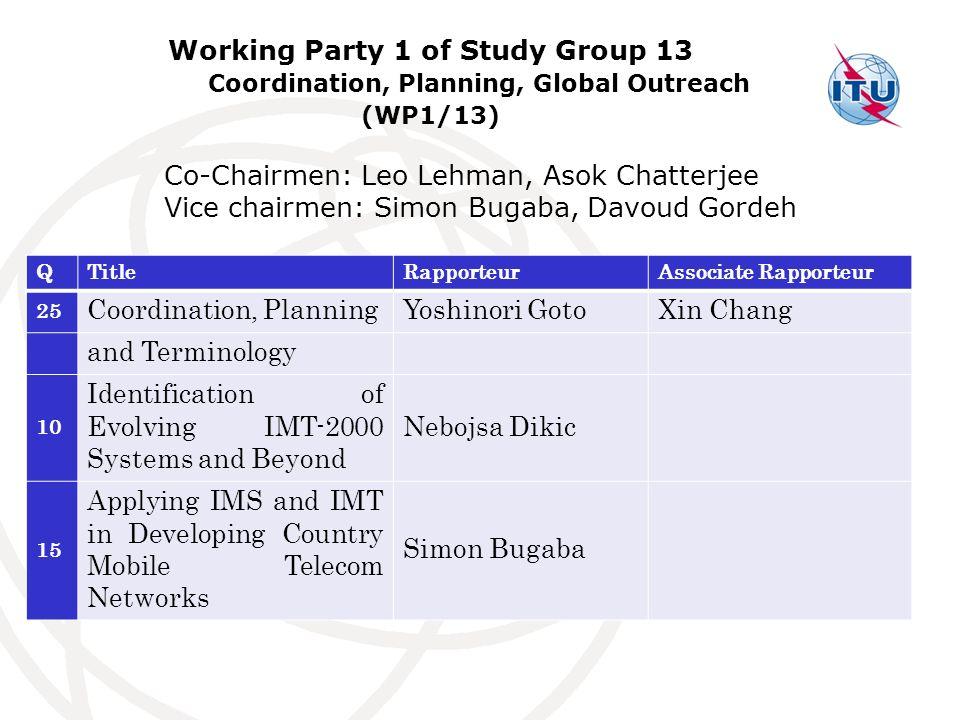 Co-Chairmen: Leo Lehman, Asok Chatterjee