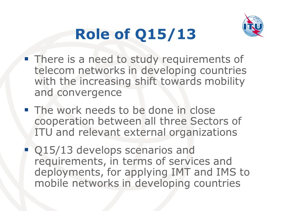 Role of Q15/13