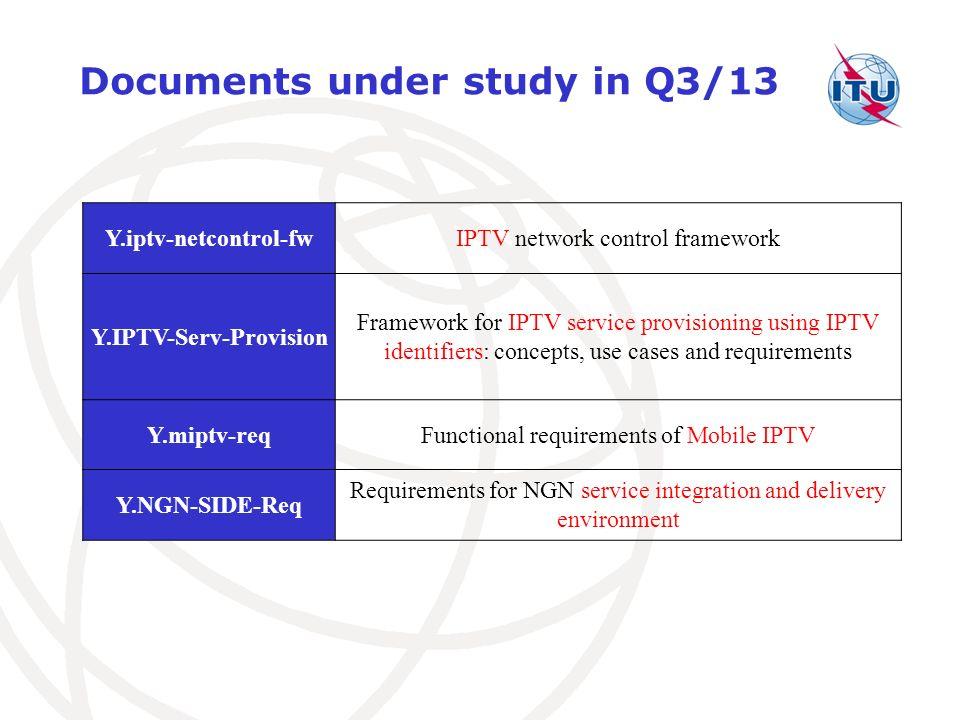 Y.IPTV-Serv-Provision