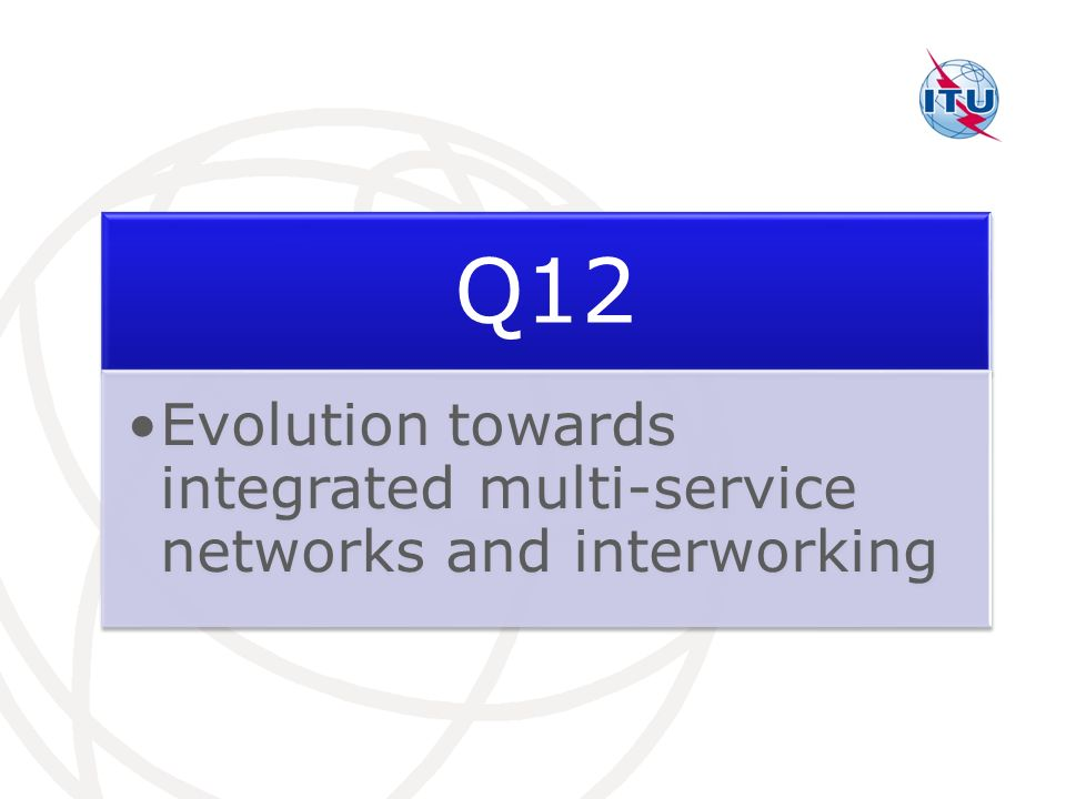 Q12 Evolution towards integrated multi-service networks and interworking