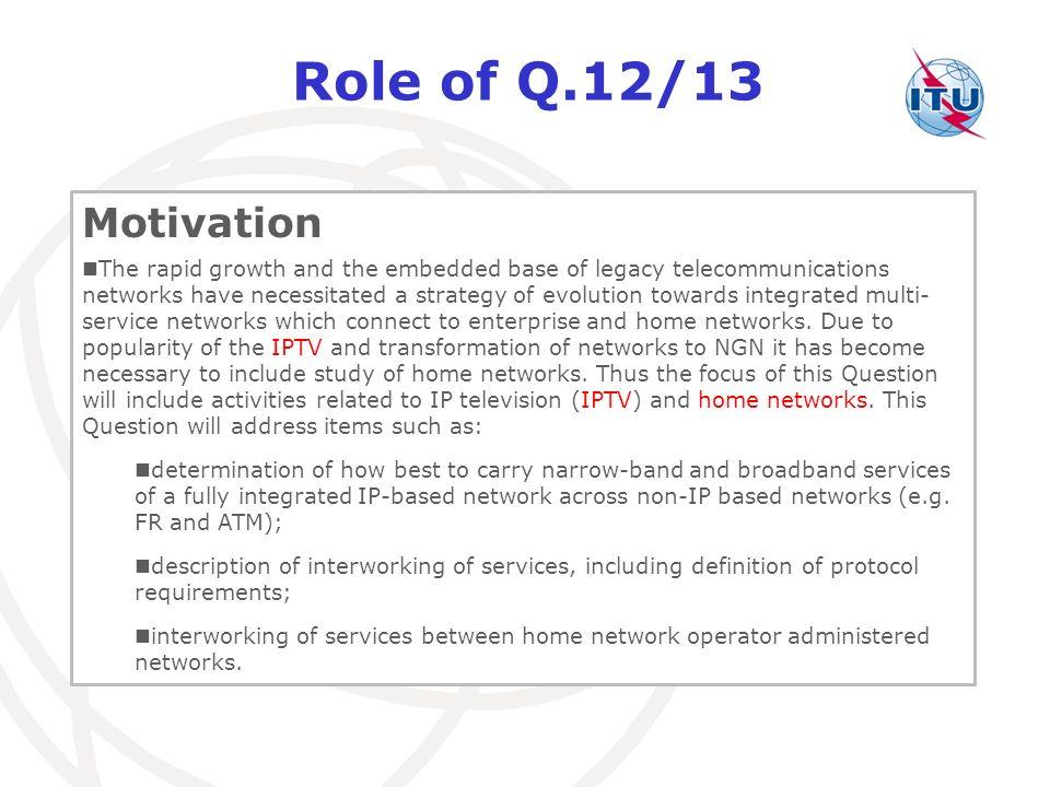 Role of Q.12/13 Motivation.
