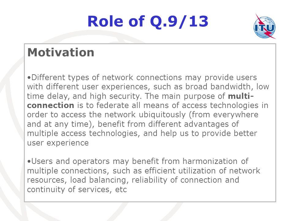 Role of Q.9/13 Motivation.