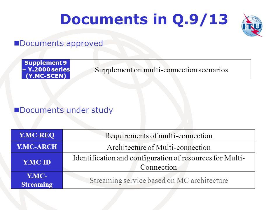 Supplement 9 – Y.2000 series (Y.MC-SCEN)
