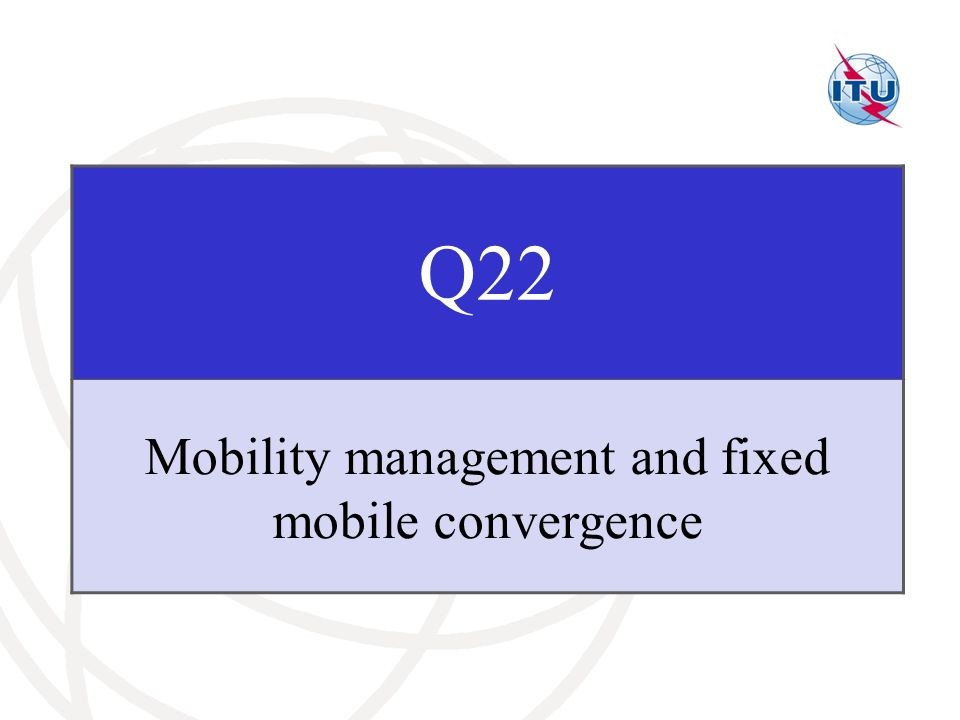 Mobility management and fixed mobile convergence