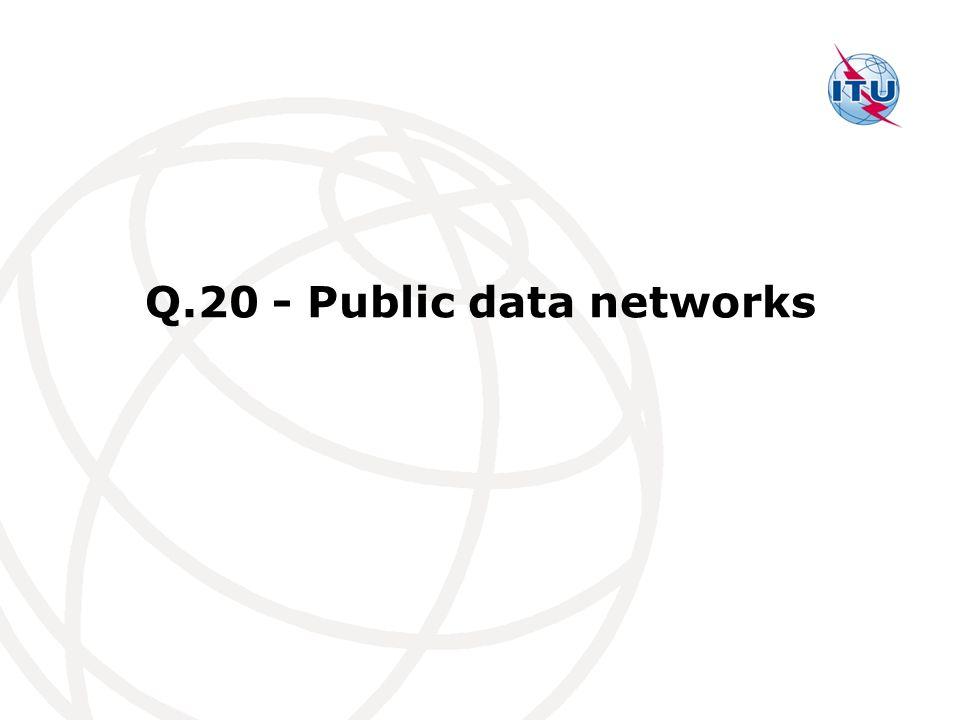 Q.20 - Public data networks