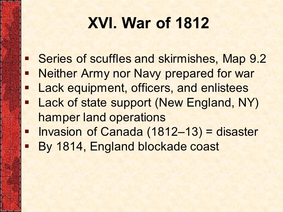War Of 1812 Series Of Scuffles And Skirmishes Map 9 2