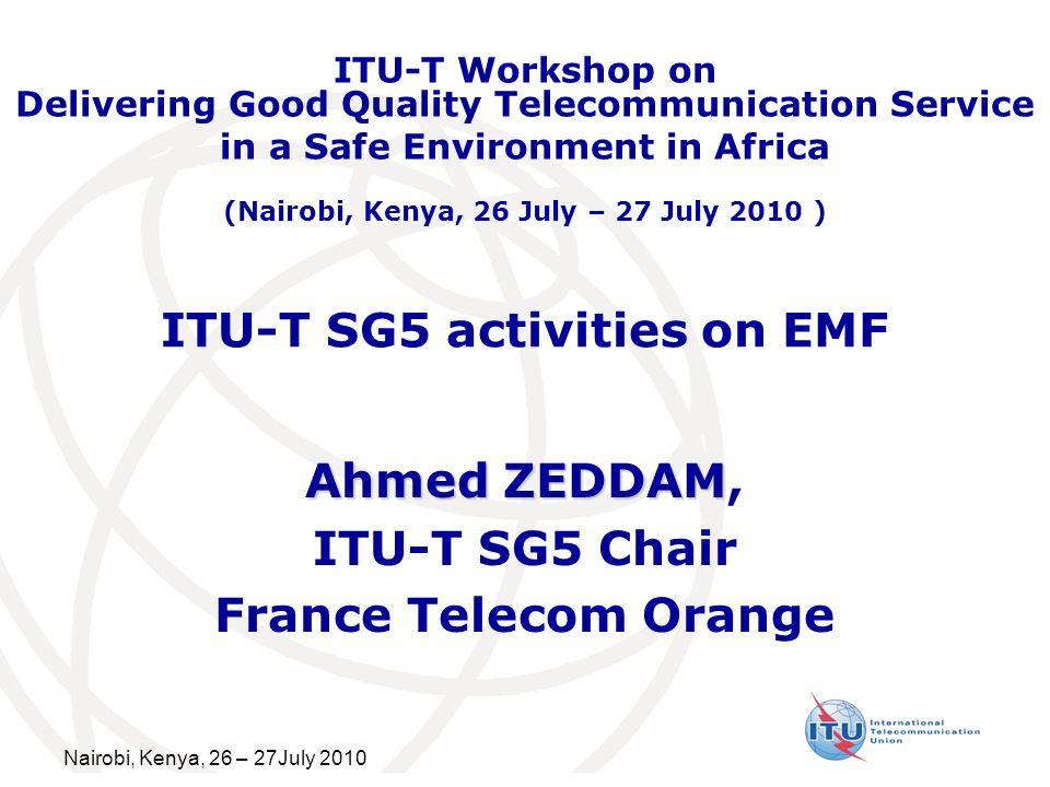 ITU-T SG5 activities on EMF