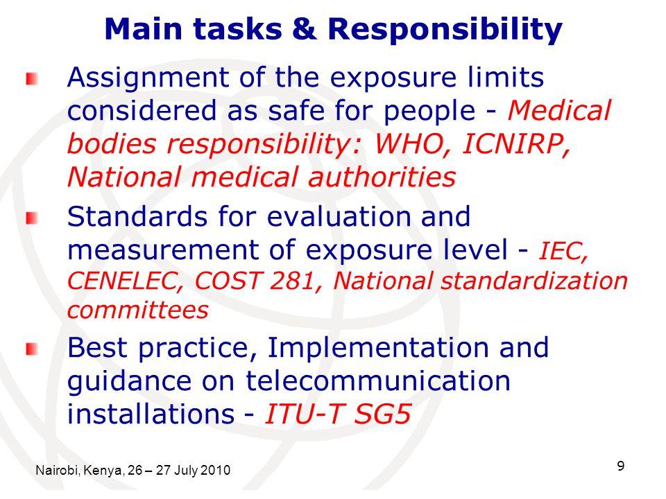 Main tasks & Responsibility