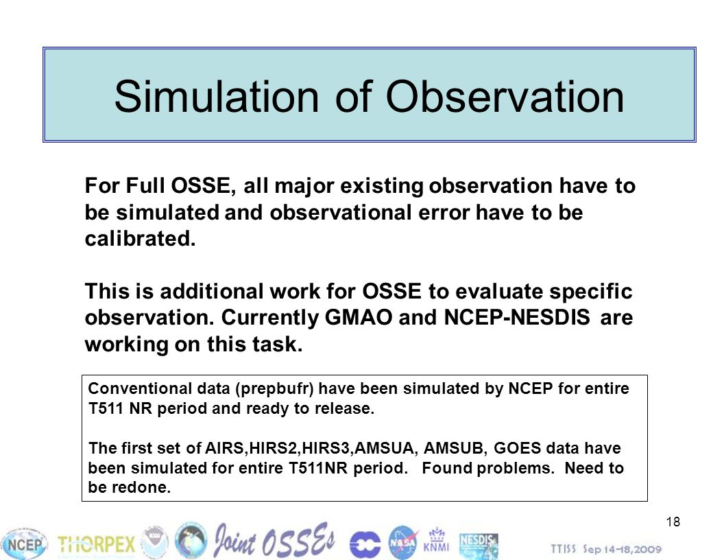 Simulation of Observation