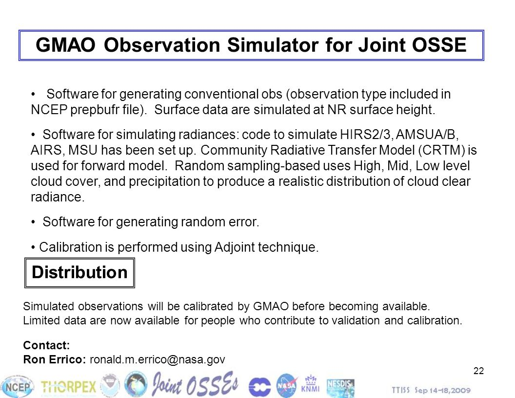 GMAO Observation Simulator for Joint OSSE