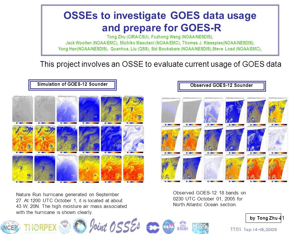 OSSEs to investigate GOES data usage