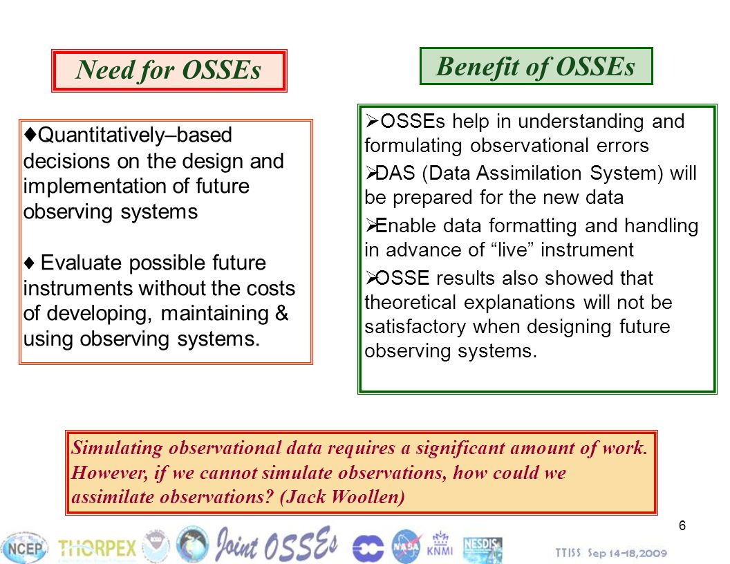 Need for OSSEs Benefit of OSSEs