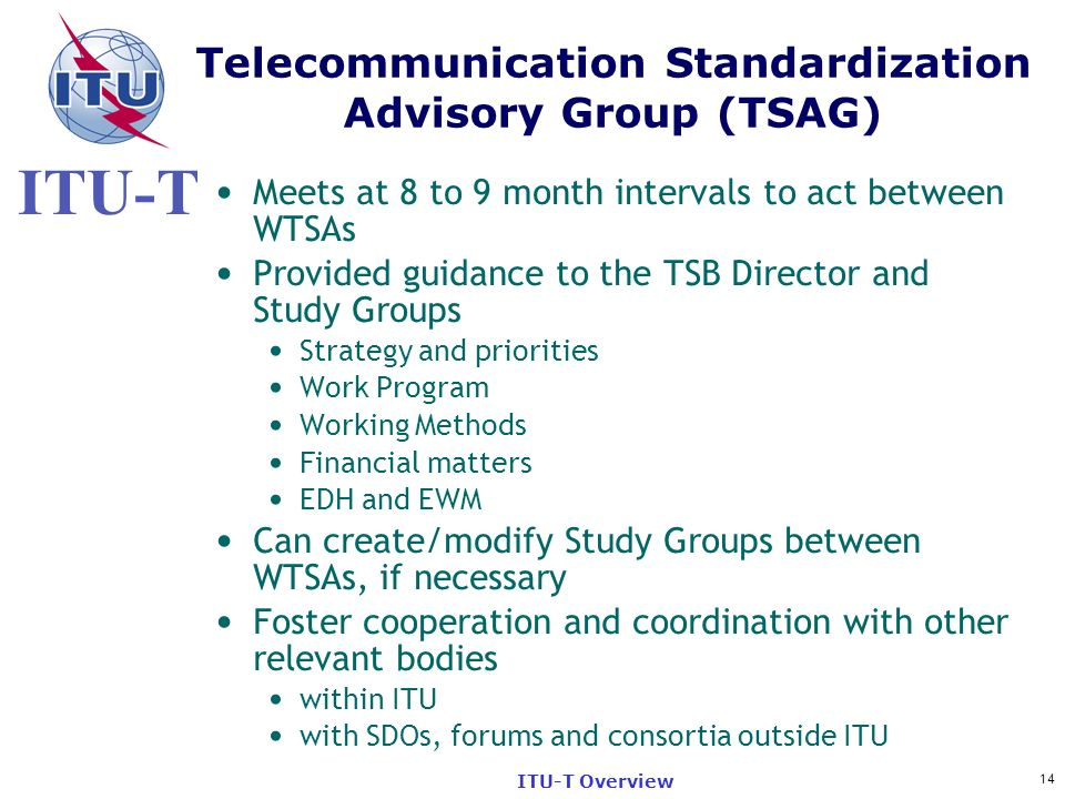 Telecommunication Standardization Advisory Group (TSAG)