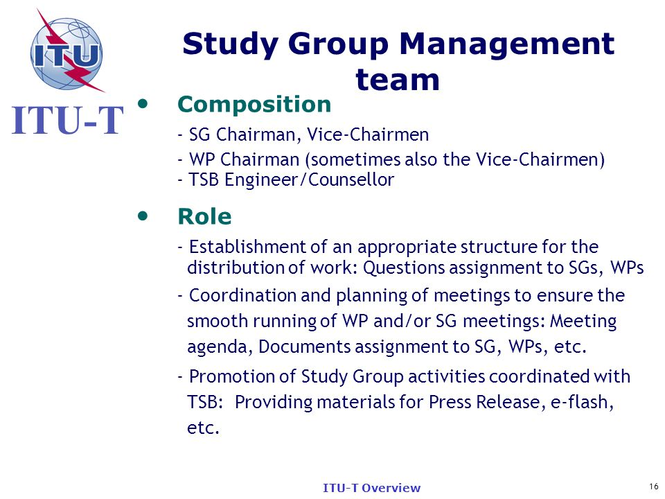 Study Group Management team