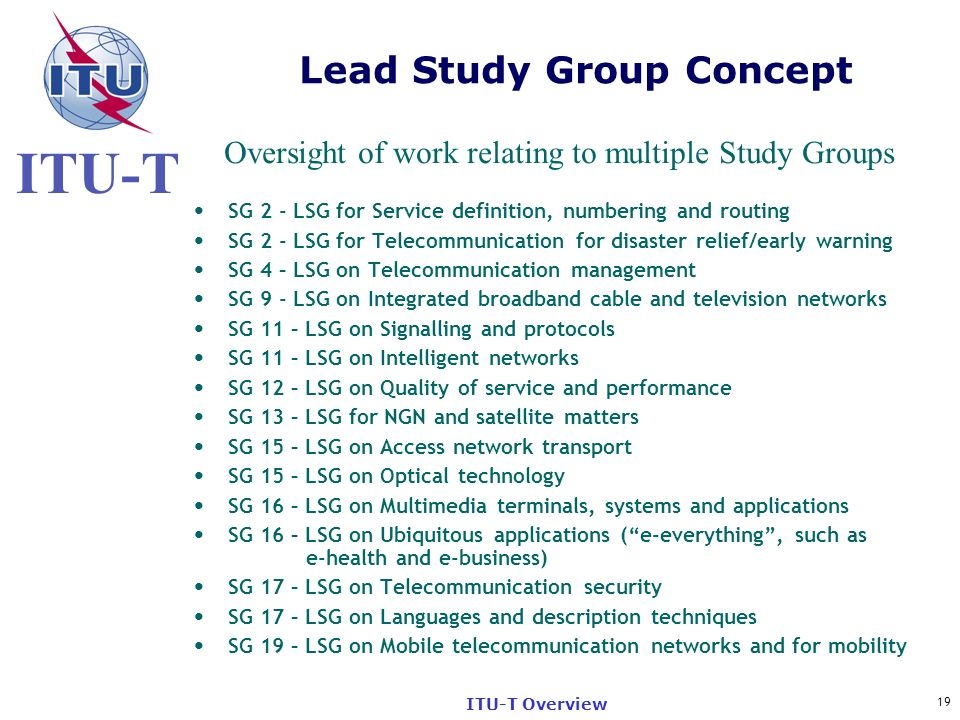 Lead Study Group Concept
