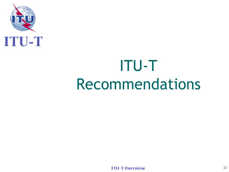 ITU-T Recommendations