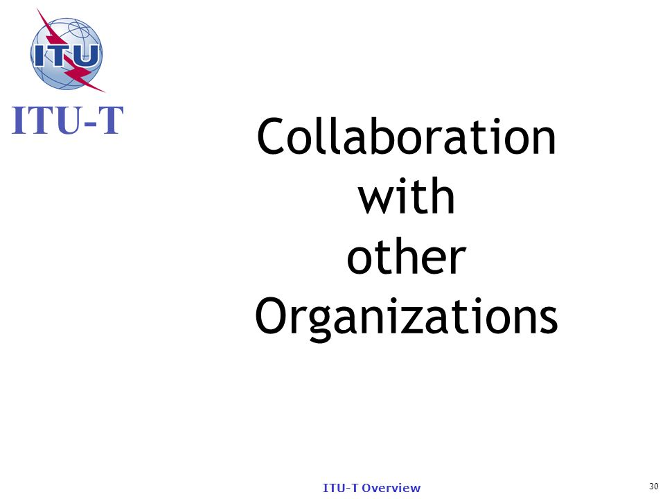 Collaboration with other Organizations