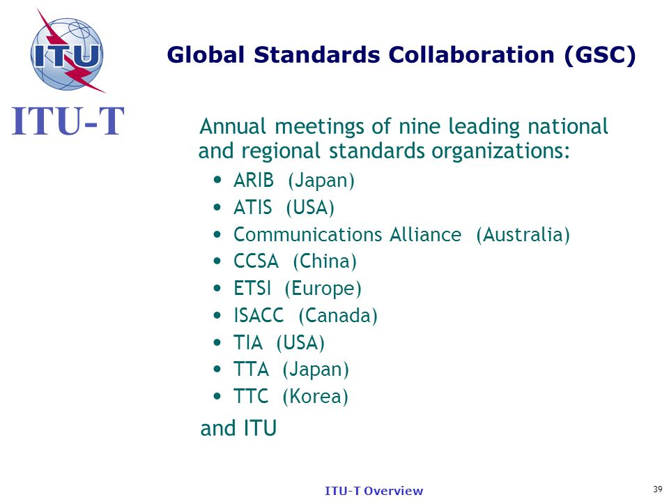 Global Standards Collaboration (GSC)