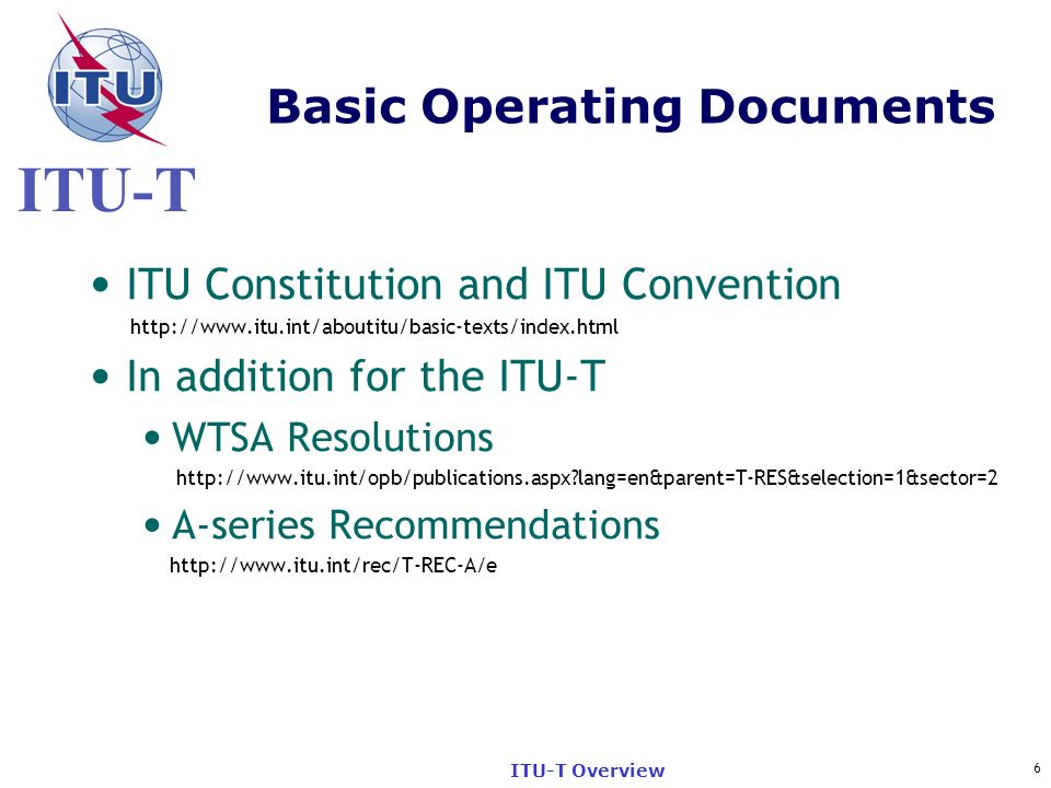 Basic Operating Documents