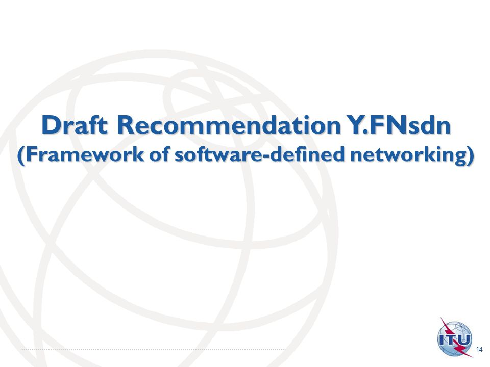Draft Recommendation Y.FNsdn